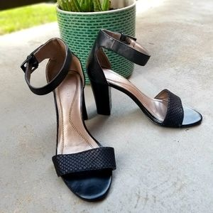 "Tahari ""May"" Black Block Heel"